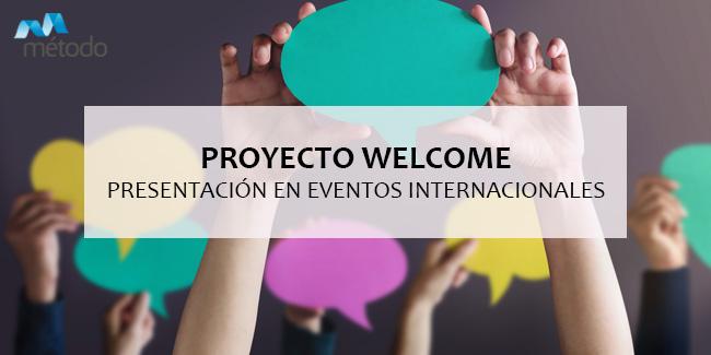 Presentamos el proyecto WELCOME en dos eventos internacionales